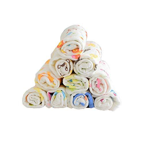 Z-Chen 10er Pack Baby Waschlappen Mulltücher Allzwecktücher, 30x30 Premium Baumwolle