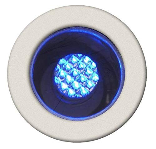 COSA-Kit de 10 Spots ronds LED encastrables d'extérieur Ø1,5cm Bleu Brilliant