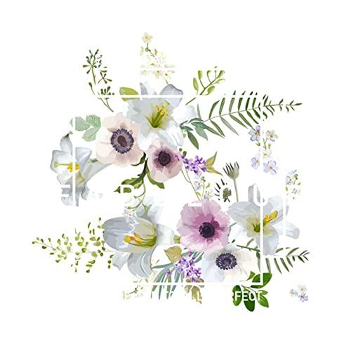 yueyouhuyou Transferencia de Calor de Plantas Hermosa y Fresca de la Planta for Ropa Impresa Parches for Ropa DIY T -Shirt Transferencia de Calor (Color : MA-3-2B)