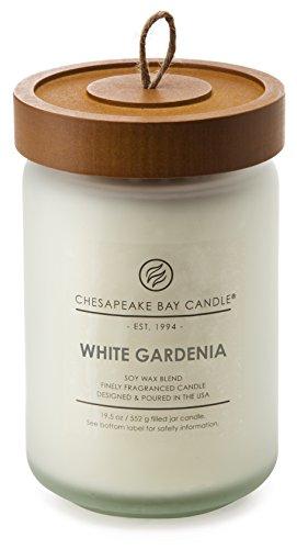 Chesapeake Bay Candle Scented Candle, White Gardenia, Large Jar
