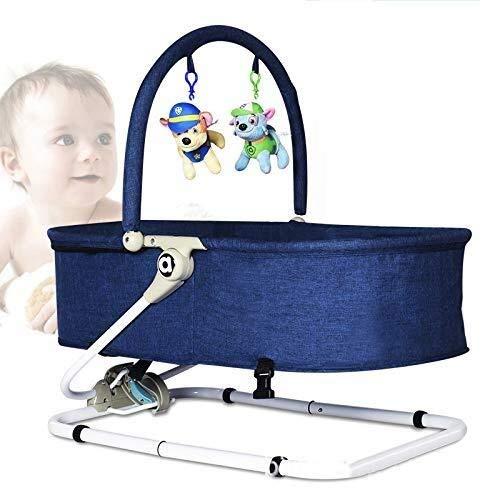 SOAR Babyschaukel schaukeln Baby-Schaukelstuhl Baby-Wiege Kinder Lehnstuhl Komfort Stuhl Neugeborenes Schaukelstuhl Bett (Color : Blue)