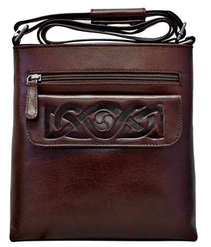 Lee River Goods Co - Celtic Leather Mary Crossbody Bag (Brown)