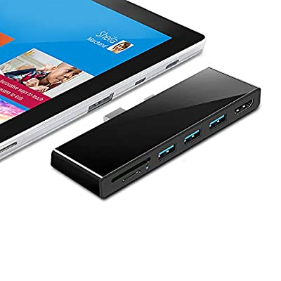 ?Upgraded Version?Microsoft Surface Pro 4/Pro 5/Pro 6 USB Hub Docking Station with 4K HDMI Adapter, 3 USB 3.0 Ports Transport Combo Dock, Read SD&TF Card Slot for Microsoft Surface Pro 2015/2017/2018