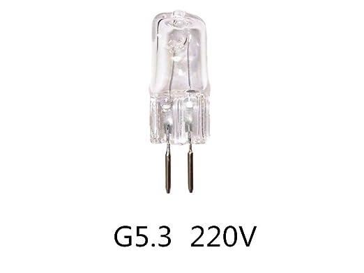 Xucus 5PCS G5.3 220v Halogen Bulb 70W 20W G5.3 220v 35w 50w Aroma lamp Bulb Mechanical Light Bulb Working Light Bulb - (Wattage: 35w)