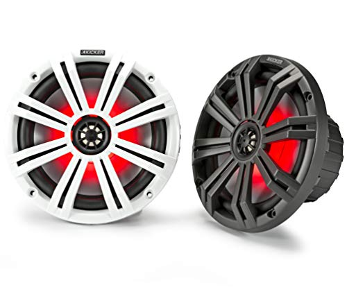 Kicker KM8 8-Inch (200mm) Marine Coaxial Speakers