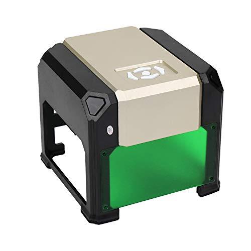 "WAINLUX K4 Laser Engraver, Compact Laser Engraving Machine, Support Win, MAC Connection, 3000mW Small Desktop Laser Marking Machine, Laser Etching Range 3.14""×3.14'', DIY Logo Design (Gold)"