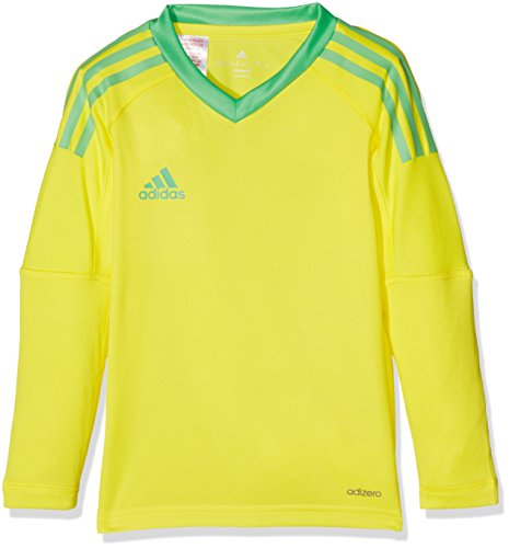 adidas Kinder Revigo 17 Torwarttrikot, Bright Yellow/Energy Green S17, 140