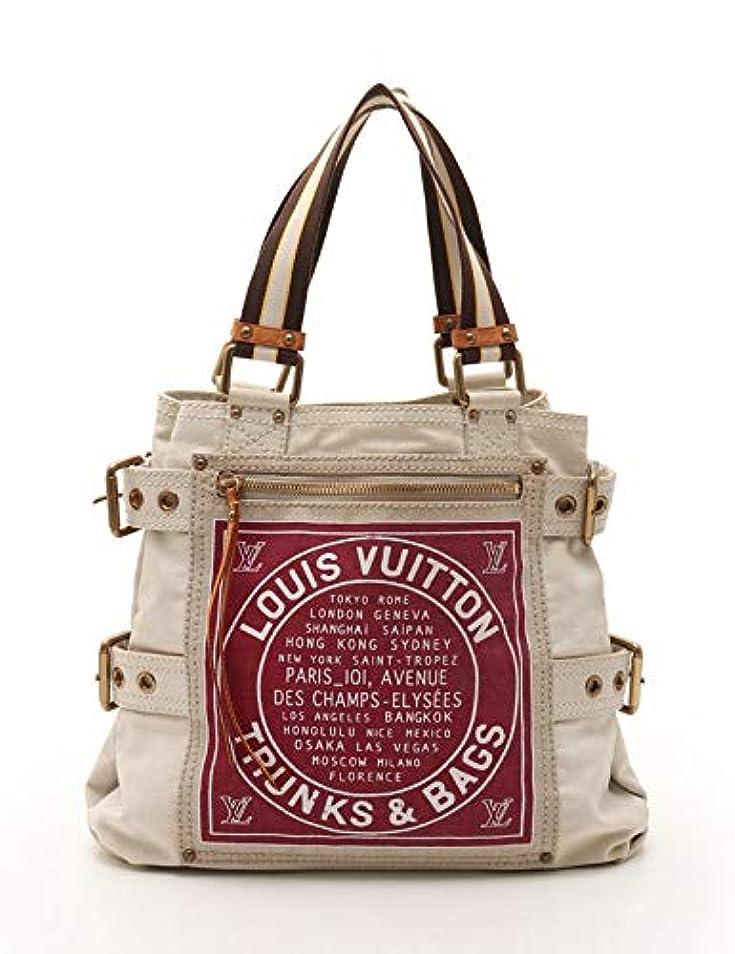 レディ走るハーネス(ルイ?ヴィトン) LOUIS VUITTON グローブショッパーMM トートバッグ キャンバス アイボリーボルドー 茶 2006年クルーズライン M95112 中古