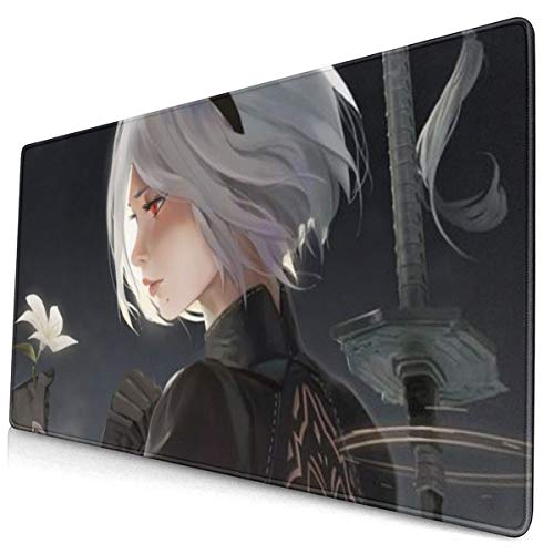 Extra Large Mouse Pad -2b - Nier Nier Automata Desk Mousepad - 15.8x29.5in (3mm Thick)- XL Protective Keyboard Desk Mouse Mat for Computer/Laptop