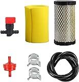 Piezas de repuesto para cortacésped Filtro de aire Filtro de filtro con filtro de combustible Línea Vlave para Briggs & Stratton 5415K John Deere GY21055 MIU11511 MUI11513 Rotary 12673 Stens 100-929