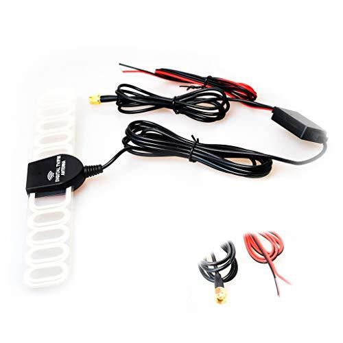 Auto autoradio antenne versterker verbinder lijmantenne booster antennekabel, SMA + netstekker.