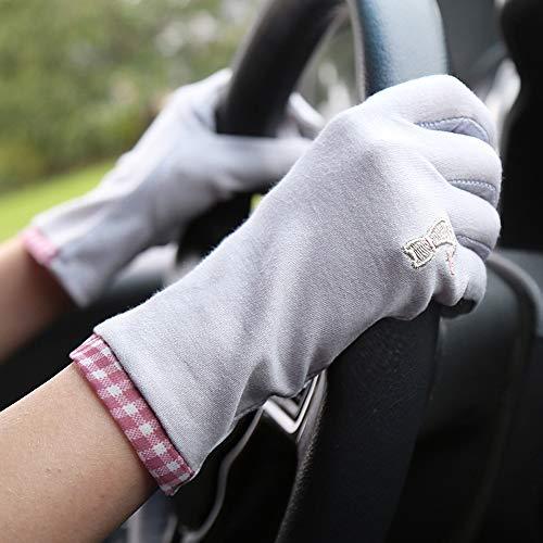 LDDENDP Guantes de gato del bordado de Protección Solar for los guantes del dedo de la mujer de...