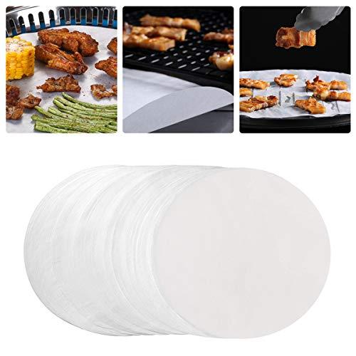 Ledeak 100 Sheets Rondas de Papel de Pergamino, 7 Inches Papel Antiadherente para Hornear Cake Pan Liner Circles para Hornear Pasteles para Hamburguesas Cheeseburgers Horno Holandés