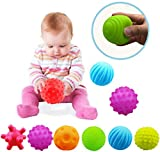 VintageⅢ 12pcs Baby Infant Sensory Balls Structured Multi Ball Set Massage Soft Ball
