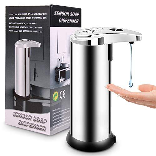 Dosatori per Sapone Liquido Distributore di sapone sensore di movimento infrarosso Touchless Hands-Free Bottiglia automatica sapone liquido for lavatrice Bagno Ufficio Scolastico Dosatori e Porta Acce