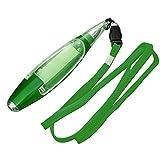 1 bolígrafo 3 en 1 multifunción, linterna LED de papelería, portátil, con bolígrafo, color verde 21.4 grams