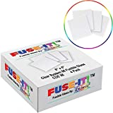 On Sale, System 96 6 inch Fusible Clear Glass Squares - 4 Pack - U-Fuse-It