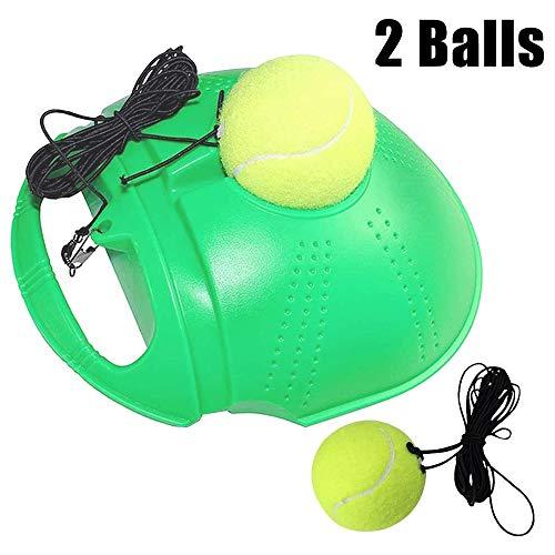 Tennistraining Rebound Ball, TennistrainingsausrüStung, Tennis Aid Sports Tennisball Back Balls, ÜBungs-Tool Zum Selbststudium FüR AnfäNger Und Erwachsene,Grün,2Balls