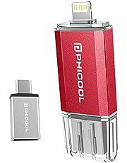 Phicool USBメモリ iPhone フラッシュドライブ 最新版 アイフォン メモリ IOS Android PC 人気 USB 両面