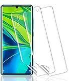 Wiestoung Protector de Pantalla para Xiaomi Mi Note 10, [2 Piezas] [Adsorción anhidra] [Película Flexible] [Cobertura máxima] Película Protectora Transparente TPU Suave ultradelgada