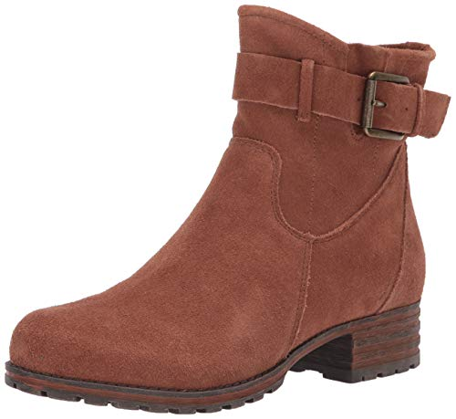Clarks womens Marana Amber Fashion Boot, Dark Tan Suede, 5.5 US