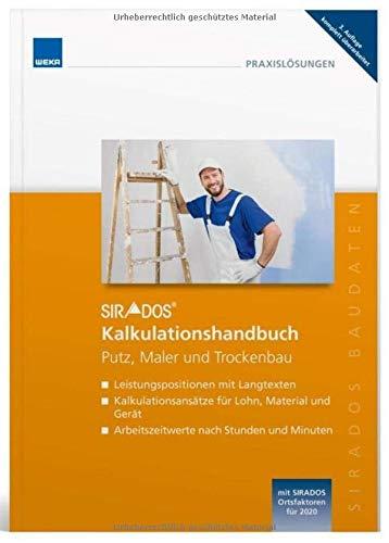 SIRADOS Kalkulationshandbuch 2020 Putz, Maler und Trockenbau
