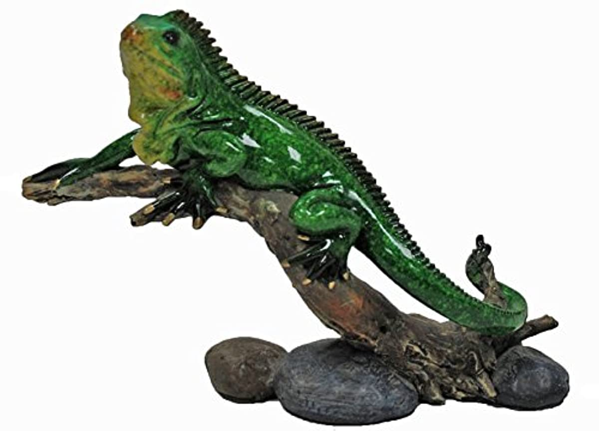 U Bargain Mall Glazed Green Iguana Figurine