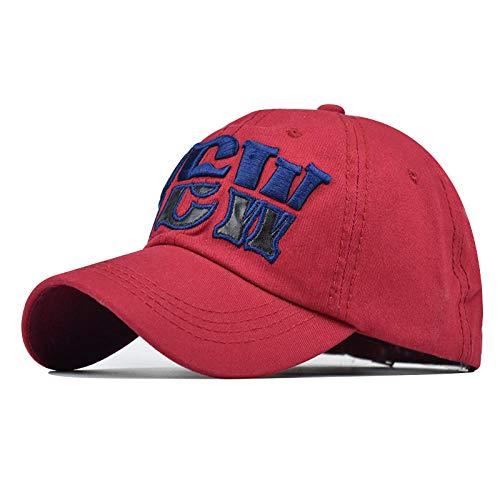 Herren Kappe Hut Buchstabe 3D Stickerei Baseball Cap Für Männer Frauen Hip Hop Papa Hüte Baumwolle Hysteresen Herren Trucker Hats-Red_Adjustable
