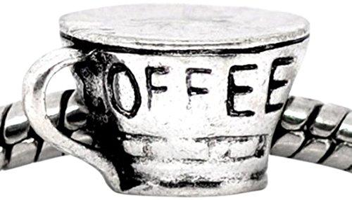 Buckets of Beads Coffee Cup Charm Bead Fits Pandora Troll Biagi Zable