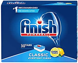 Finish Powerball Classic Dishwasher Detergent Tablets with Lemon Scent - 20 Tablets