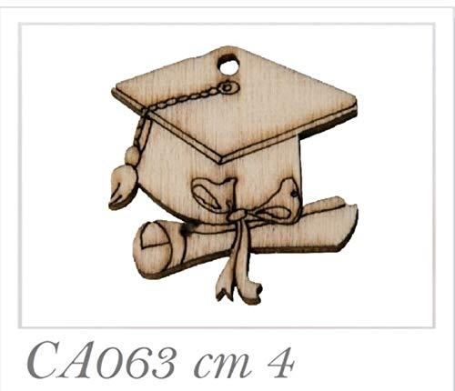 36 PEZZI Tocco Laurea in legno decorazione bomboniera