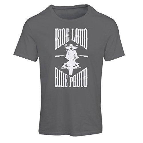 N4695F Frauen T-Shirt Ride Loud! (Medium Graphit Mehrfarben)