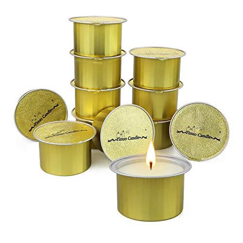 Yinuo Candle Citronella Candles Soy Wax 12 Pack, Velas de Aromaterapia Set de Regalo de Velas Perfumadas para Uso al Aire Libre/Interior, Fiesta en el Jardín, Viajes, Regalos de Verano para Ella