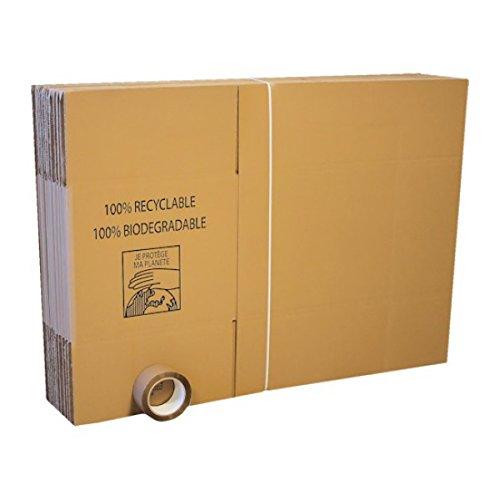Lot de 20 cartons standard déménagement + 1 adhésif 100m