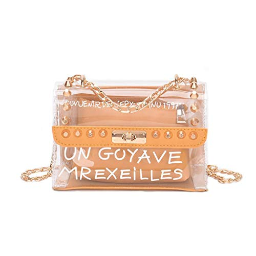 Bolso cruzado transparente de PVC 2 en 1 estilo para mujer, bolso...