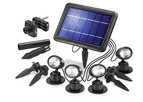 Esotec Faretti solari Quattro Power, led, solare, plastica