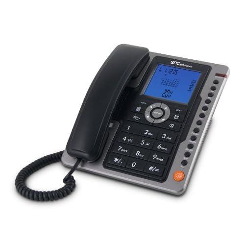 SPC Office Pro - Teléfono fijo (identificación de llamadas, gran pantalla iluminada, manos