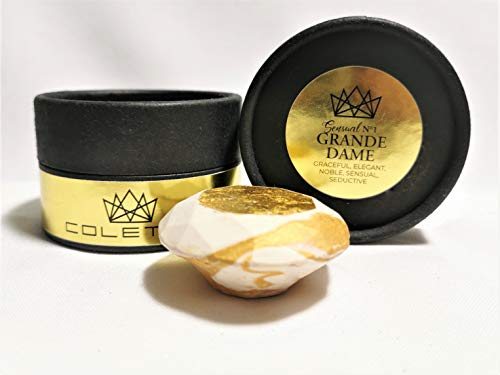EXCLUSIVE Natur Bio Seife mit 24 Karat Gold als Anti-Aging Vorsorge mit Oliven- & Arganöl bei trockener & empfindlicher Haut inkl. Geschenkbox 25g – Made in Austria