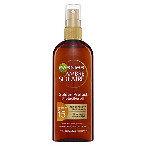 Garnier Ambre Solaire Golden Protect Shea Butter Tan Enhancing Sun Oil...
