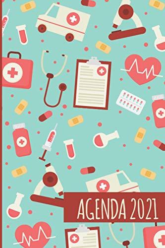 Agenda 2021: Tema Enfermera Medicina Agenda Mensual y...
