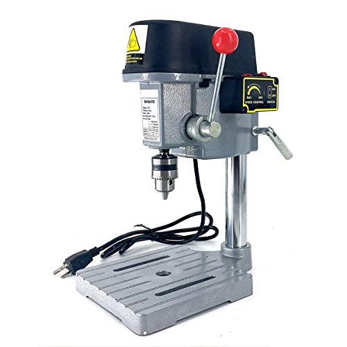 NICCOO 3-Speed Mini Drill Press Bench, Mini Electric Bench Drill Press Stand Compact Portable Drill Press Workbench Metal Drilling Repair Tool Expanding Drilling Machine 340W DIY Furniture Tool