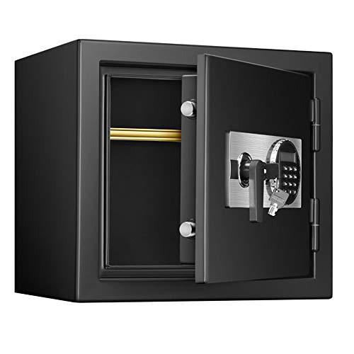 TYJKL Caja Fuerte Digital Electronic Safe Security Box for Home Office, Gabinete Caja Fuerte con el Teclado de la Pared-Anclaje almacenar Documentos Importantes (Color : Black, Size : 41x33x37.5cm)