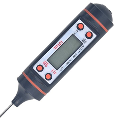 Puuli Instance Read Cooking Thermometer Food Grill Thermometer Kitchen Temperature Gauge Meter Measurement with LCD Display for All Food