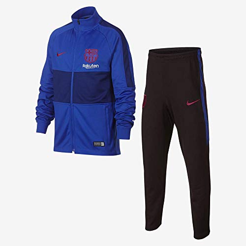 Nike Kinder Barcelona Strike Trainingsanzug, Lyon Blue/Lyon Blue/Noble Red, L