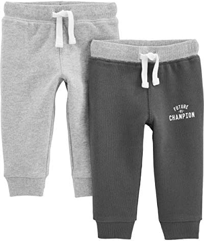 Simple Joys by Carter s Baby Boys Toddler 2 Pack Athletic Knit Jogger Pants Light Heather Gray product image
