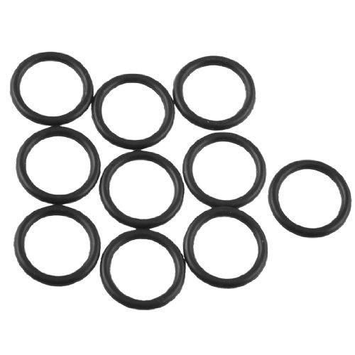 Lot 15 mm Diamètre extérieur épaisseur de 2 mm en caoutchouc Filtre à huile joint d'étanchéité O Rings Noir