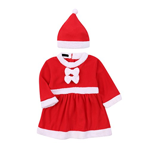 Baby Girls' Christmas Costume Dress Xmas Senta Claus Onesie Outfit Romper & Hat,6M - http://coolthings.us