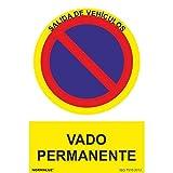 Normaluz RD40648 - Señal Adhesiva Vado Permanente...