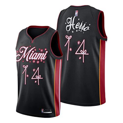 KJHA Tyler Herro - Camiseta de baloncesto para hombre y mujer, temporada 2021 Miami Heat 14 # City Edition, camisetas deportivas unisex sin mangas impresas (S-XXL)