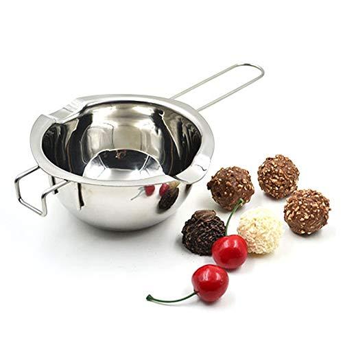 Whiie891203 304 en Acier Inoxydable Chocolat Melting Pot, Acier Inoxydable Cuisine Chocolat Au Beurre Fromage Fondant l'eau De Chauffage Pot Bol Argent